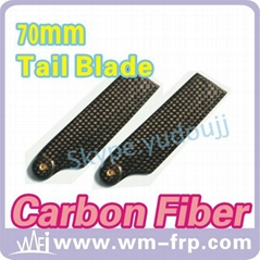 70mm carbon fiber tail blade for T-rex R/C helicopter