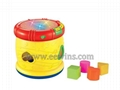 Educational musical toys drum with blocks toys