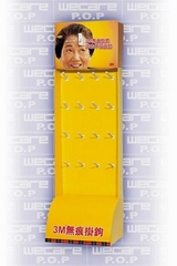 stockings cardboard display stand with hooks