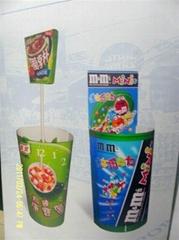 Goblet & barrel shaped display stand
