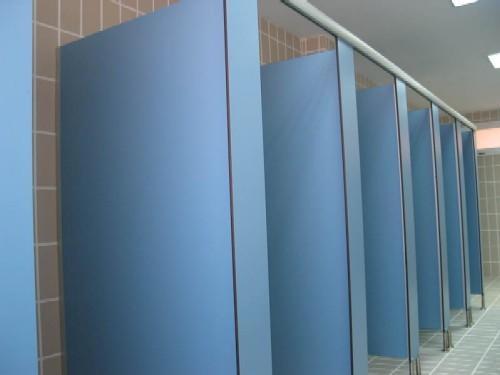 High Pressure Compact Laminate Toilet Partition Aluminium - Laminate bathroom partitions