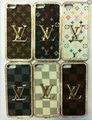 LV Luxury Bling Czech Rhinestone With Leather Case Cover For iphone5