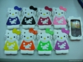 3D hellokitty Silicone Cover Case For Blackberry 8520