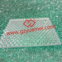 Polycarbonate prism embossed sheet