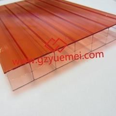 Double color polycarbonate hollow sheet- YUEMEI Latest Product