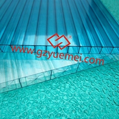 uv coating hollow pc sheets (lexan polycarbonate 4mm 6mm 8mm 10mm)