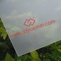 frosted glass ISO chair mat finish polycarbonate abrasive sheet
