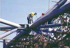 Steel structure of spraying zinc aluminum engineering