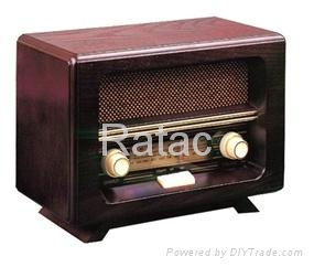 Retro Design Wooden Radio  1