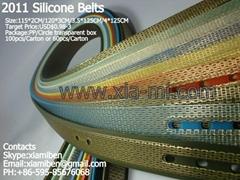 2011 fashion silicone rubber pu tpu tpe belts