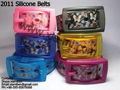 2011 fashion rubber plastic silicone pu belts