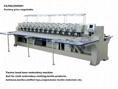 Textile garment laser embroidering machine