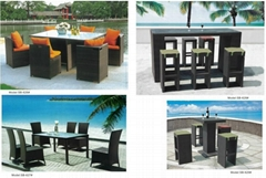 Rattan Outdoor Table and Chair