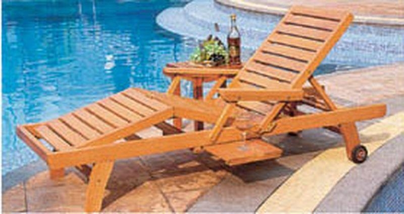 Wooden Outdoor And Beach Lounge Chair 2