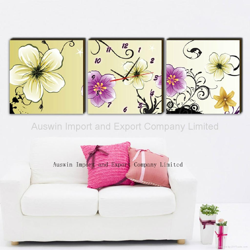 Canvas Print Clock-Art Clock - HZ-0061 (China Manufacturer