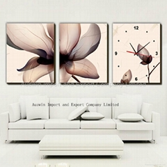 Flower Frameless Wall Clock