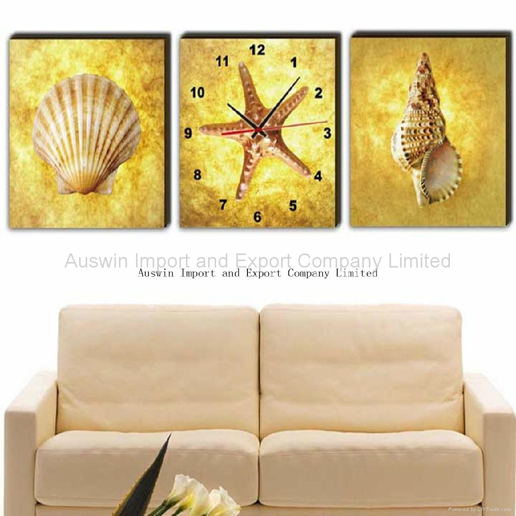 Modern Art Painting Wall Clock With Three Pictures - HZ-010 (China ...