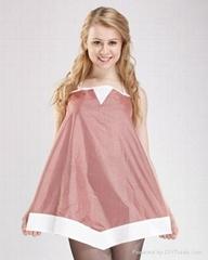 花含實獨特彩色銀纖維防輻射連衣裙