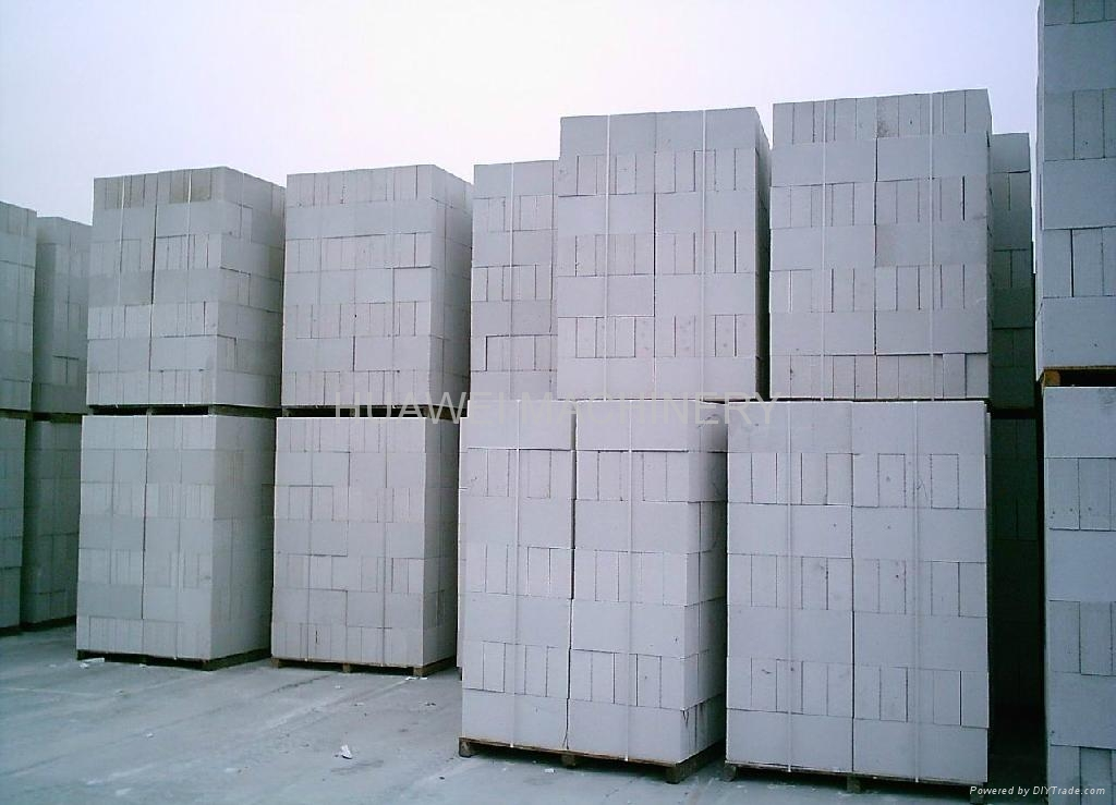Foam concrete block making plant huawei china for Cement foam blocks