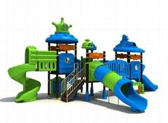kid's outdoor slide playground