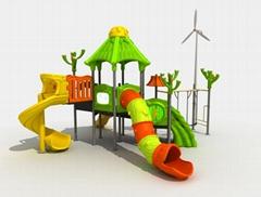 children outdoor amusement park slide