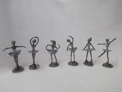 Metal Six Ballets Decorations