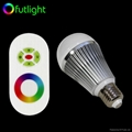 Dimmable RGB LED Bulb With RF Wireless Remote Control 1