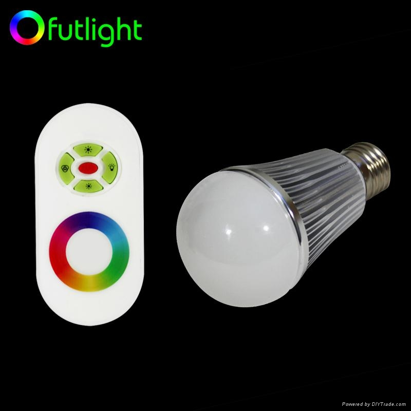 LED Color Temperature and Brightness Adjustable Bulb With RF Wireless Controller 4