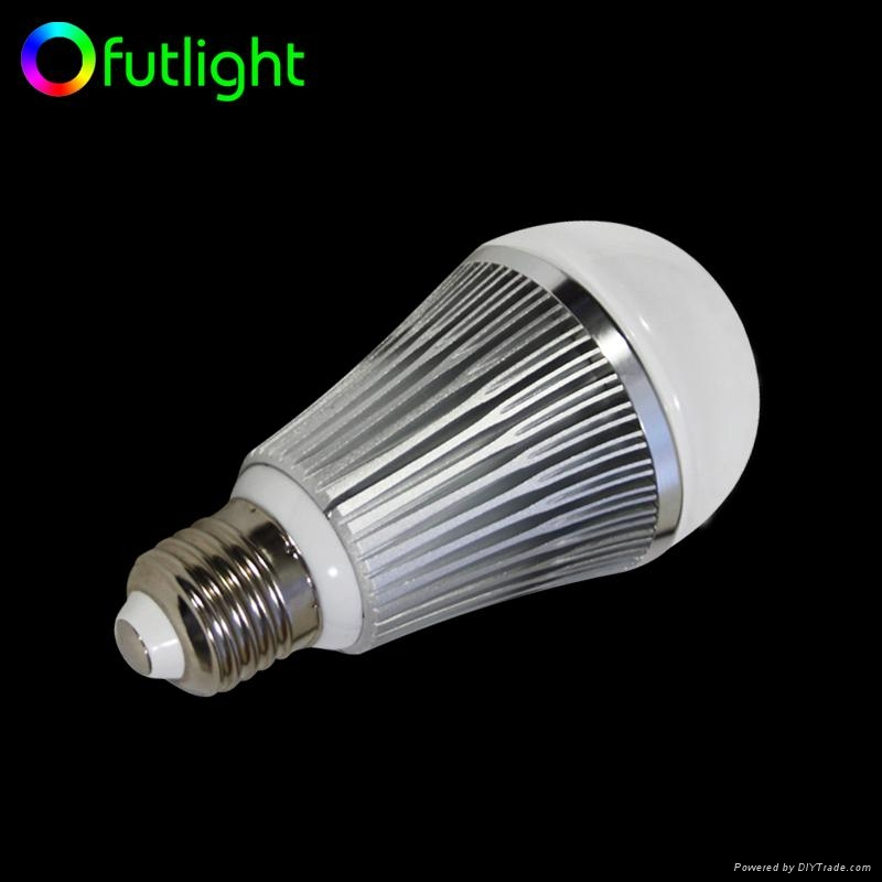 LED Color Temperature and Brightness Adjustable Bulb With RF Wireless Controller 5