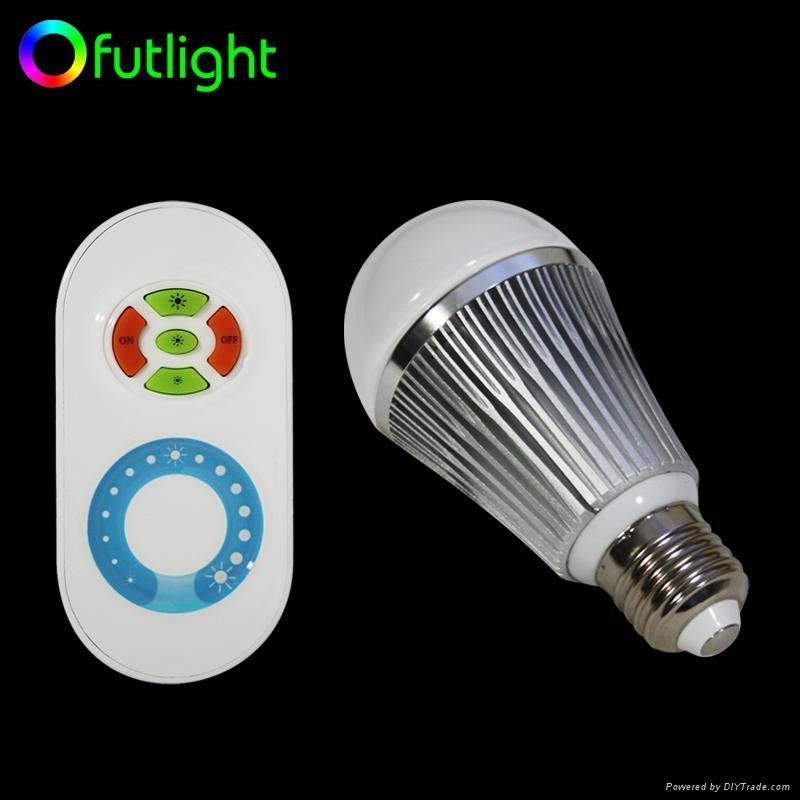 LED Brightness Changing Bulb with RF Wireless  Remote Control 1