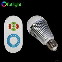 LED Brightness Changing Bulb with RF Wireless  Remote Control