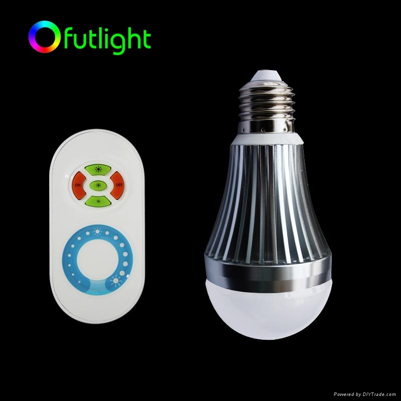 LED Brightness Changing Bulb with RF Wireless  Remote Control 3