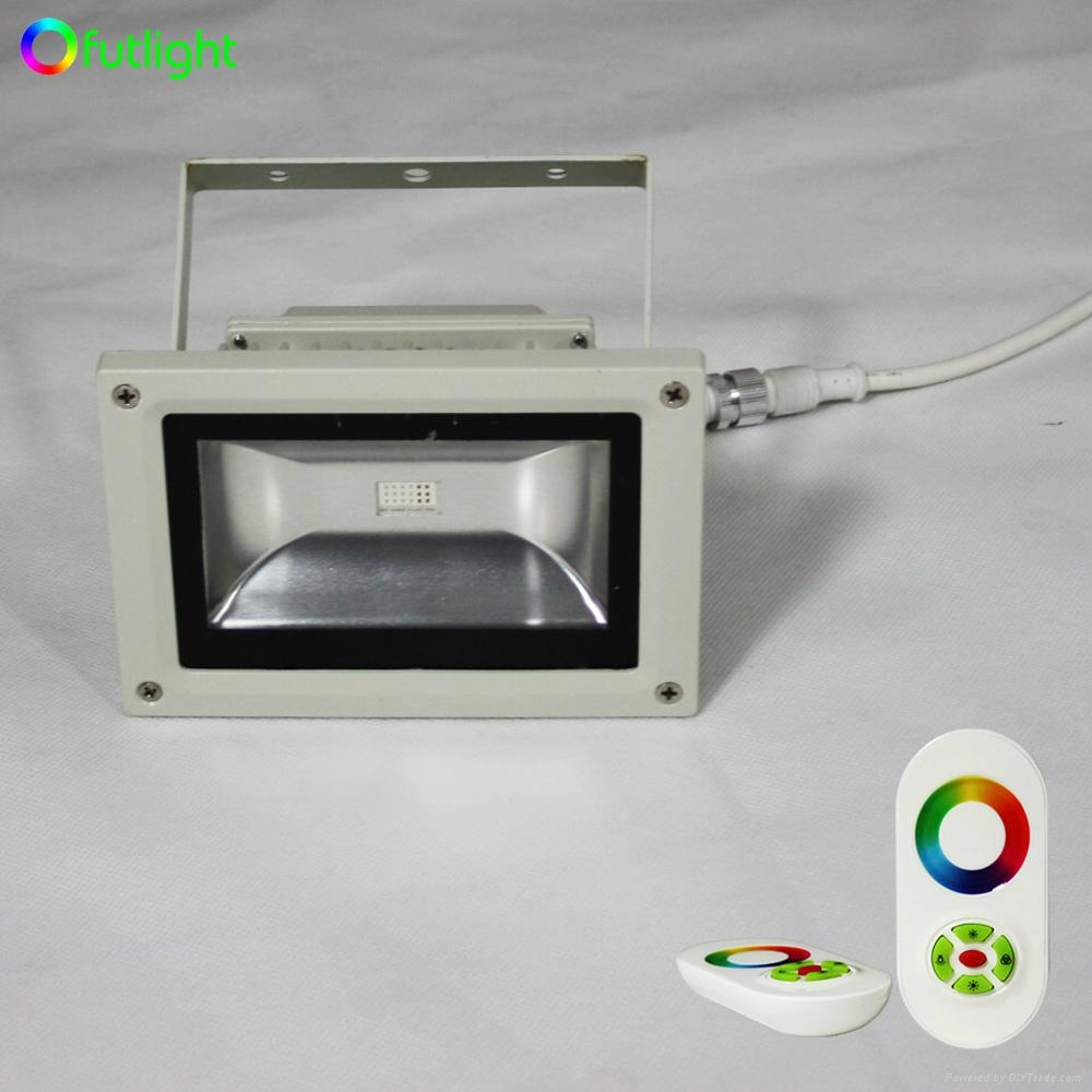 18W RGB LED Wall washer light with RF Wireless Touching RGB LED controller 2