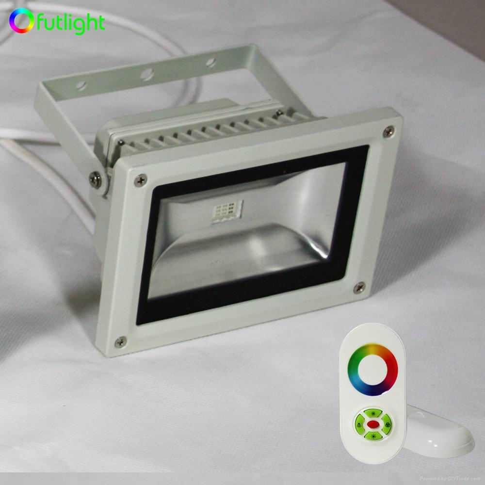 18W RGB LED Wall washer light with RF Wireless Touching RGB LED controller 5