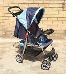 Umbrella baby stroller with food tray