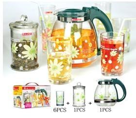 glass pot set 1
