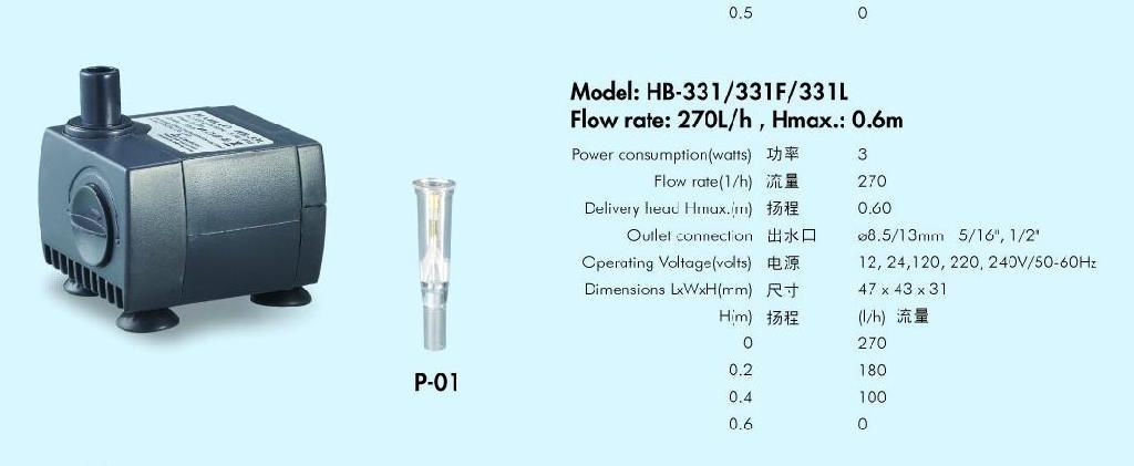 工艺品水泵HB-331 1