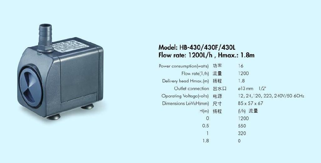 工艺品水泵HB-430 1