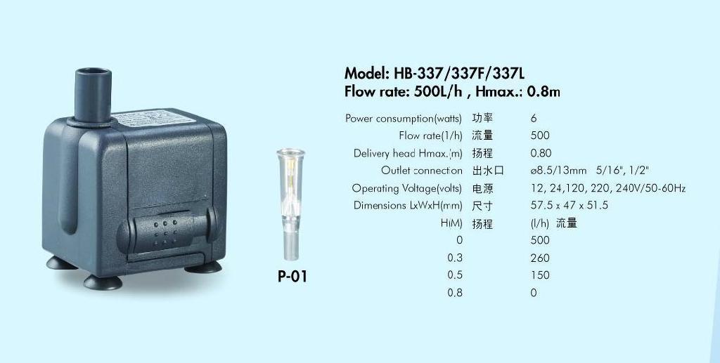 工艺品水泵系列HB-337 1
