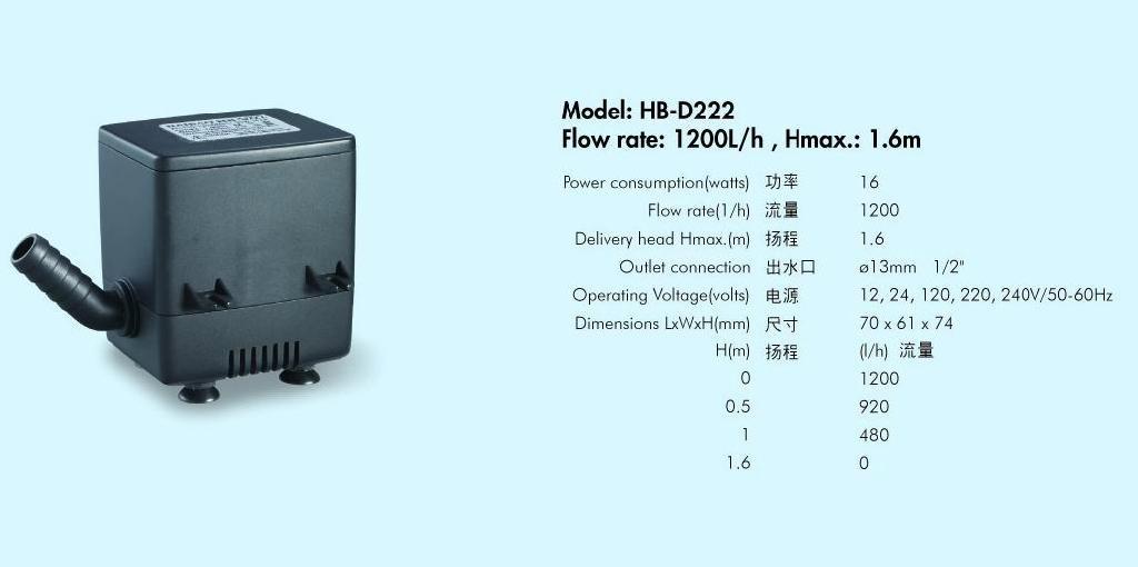 多功能潜水泵HB-D222 1