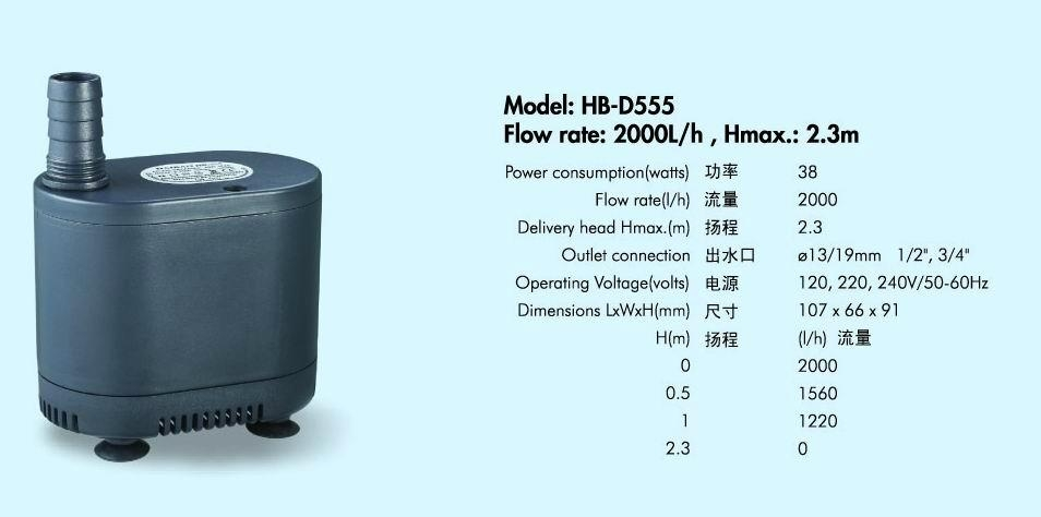 多功能潜水泵HB-D555 1