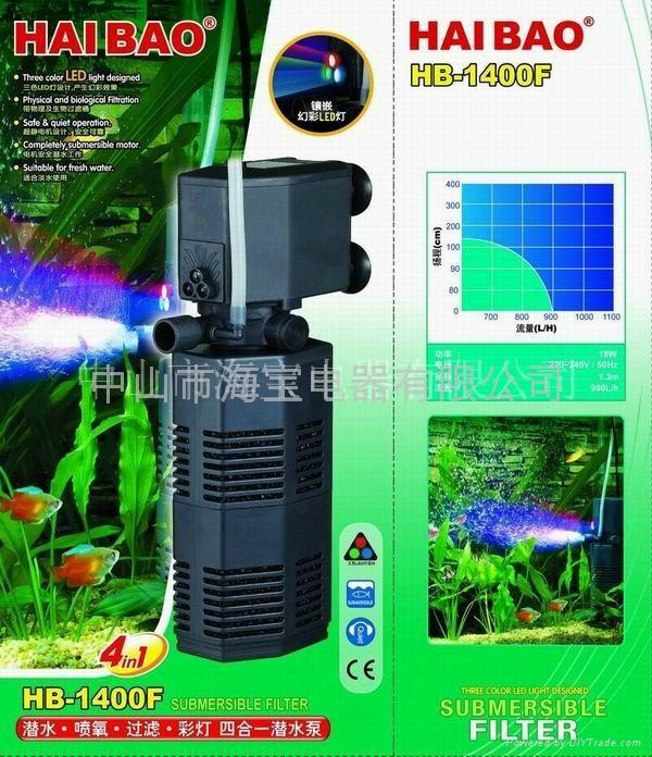 多功能鱼缸潜水泵(过滤筒泵) 3