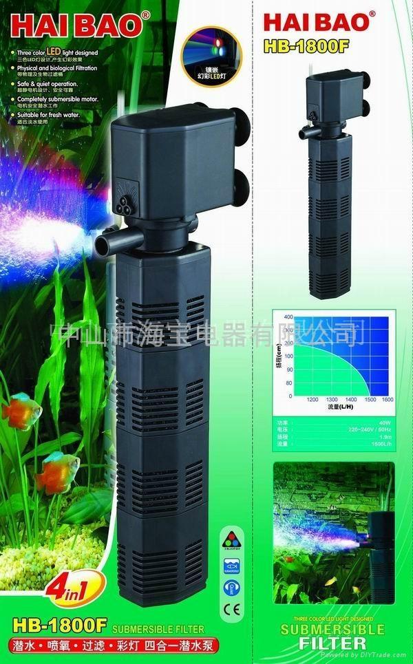 多功能鱼缸潜水泵(过滤筒泵) 5