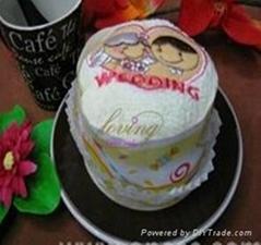 cake flower towel