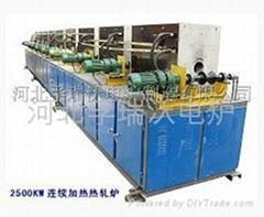 2500KW分体式连续加热热轧中频炉
