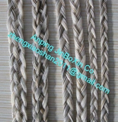 Horse hair braids for jewelry