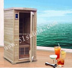 單人鐵杉碳加熱板光波浴房