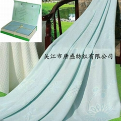 天然竹纤维床毯