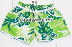 环保桃皮绒沙滩裤