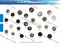 Four-hole button